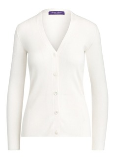 Ralph Lauren Silk Ribbed Cardigan