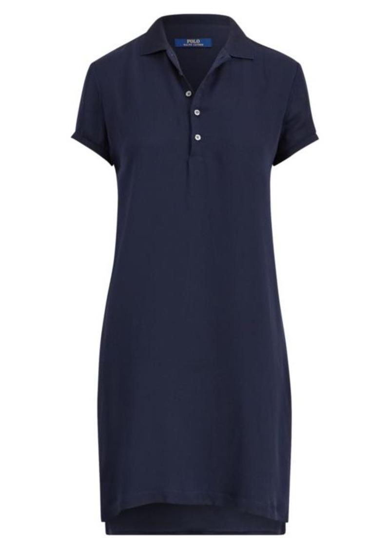 15b324727ed4ea Ralph Lauren Silk Georgette Polo Dress