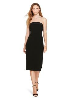 Silk-Trim Tuxedo Dress