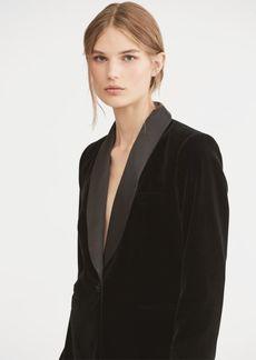 Ralph Lauren Silk-Trim Velvet Blazer
