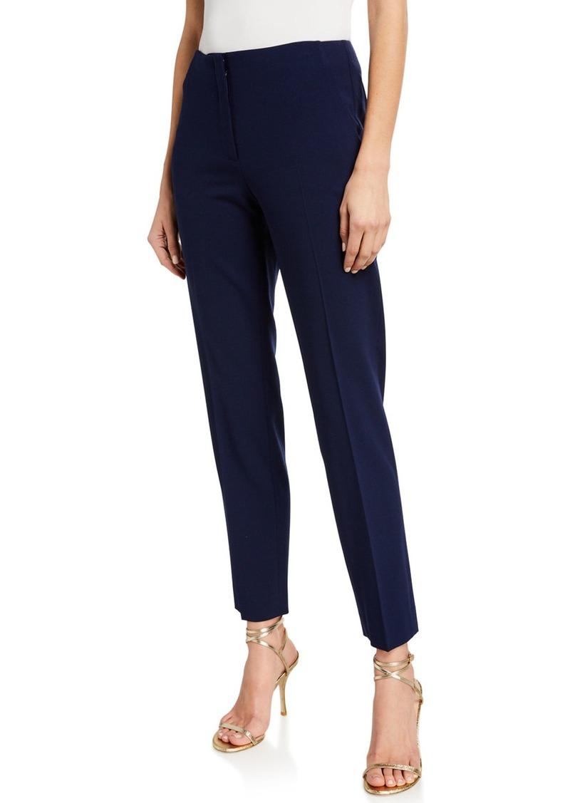 Ralph Lauren Simone Wool Straight-Leg Pants