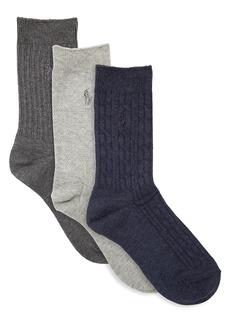 Ralph Lauren Six-Pack Classic Texture Socks