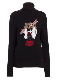 Ralph Lauren Ski Bear Cashmere Turtleneck Sweater