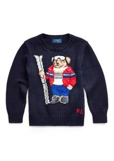 Ralph Lauren Ski Bear Cotton-Blend Sweater