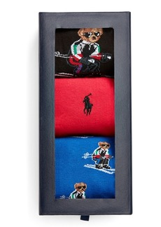 Ralph Lauren Ski Bear Dress Sock Gift Set