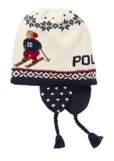 Ralph Lauren Ski Bear Earflap Hat