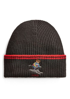 Ralph Lauren Ski Bear Rib-Knit Hat