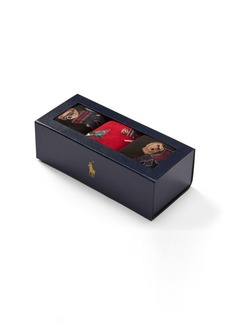 Ralph Lauren Ski Bear Sock 3-Pack Gift Set