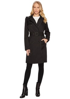 Ralph Lauren Skirted Trench w/ Faux Leather Piping