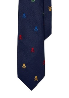 Ralph Lauren Skull-and-Crossbones Silk Tie