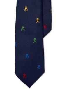 Ralph Lauren Skull-and-Crossbones Silk Tie