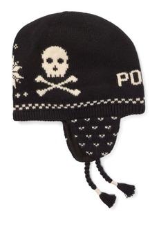 Ralph Lauren Skull Cotton-Wool Earflap Hat