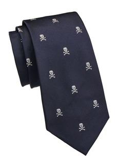 Ralph Lauren Skull Crossbones Silk Tie