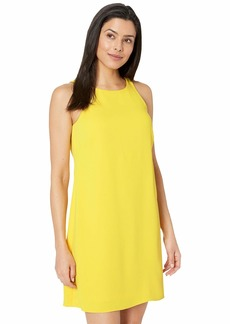Ralph Lauren Sleek Crepe Paland Sleeveless Day Dress