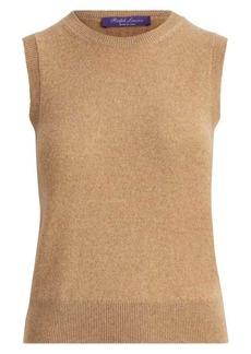 Ralph Lauren Sleeveless Cashmere Knit Shell