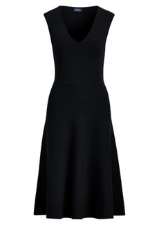 Ralph Lauren Sleeveless Fit-and-Flare Dress