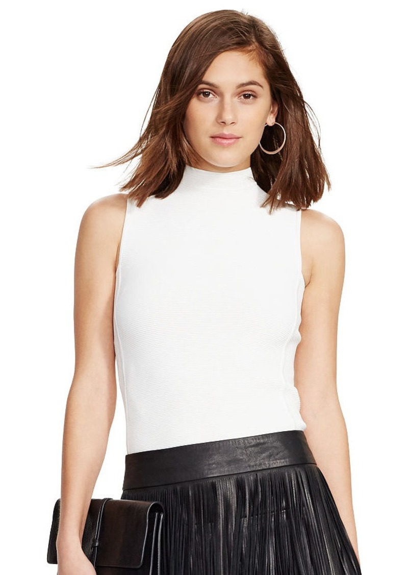 Ralph Lauren Sleeveless Mockneck Sweater