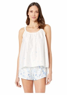 Ralph Lauren Sleeveless Ruched Neck Cami Tap Set