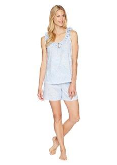 Ralph Lauren Sleeveless Ruffle Boxer Pajama Set