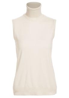 Ralph Lauren Sleeveless Turtleneck Cashmere Sweater