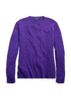 Ralph Lauren Slim Cable Cashmere Sweater