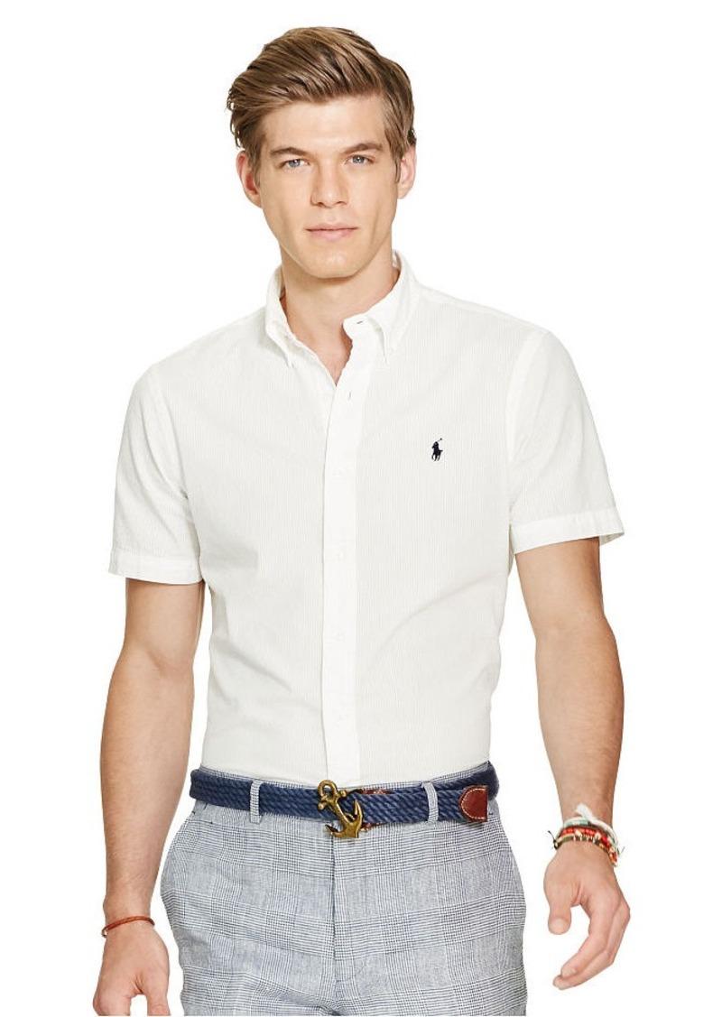 Ralph Lauren Slim Cotton Seersucker Shirt