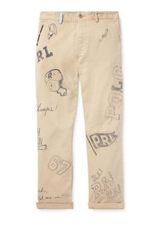 Ralph Lauren Slim Fit Cotton Graphic Chino