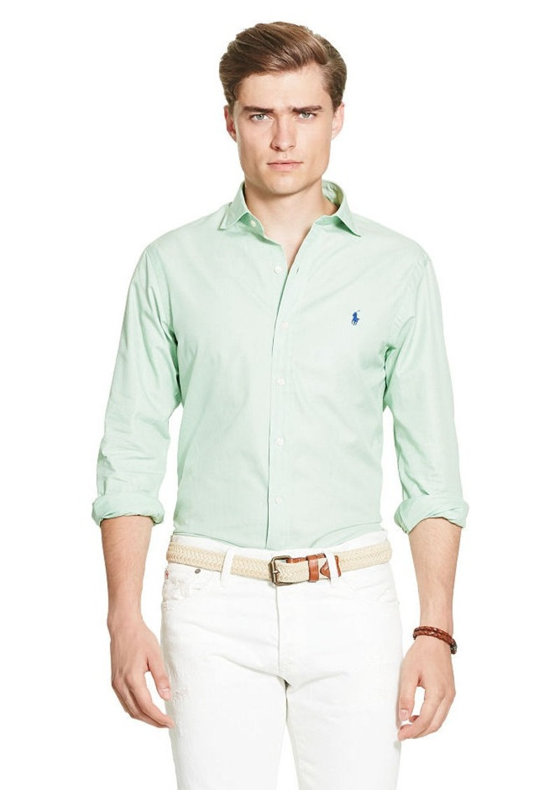 Ralph Lauren Slim-Fit Cotton Poplin Shirt