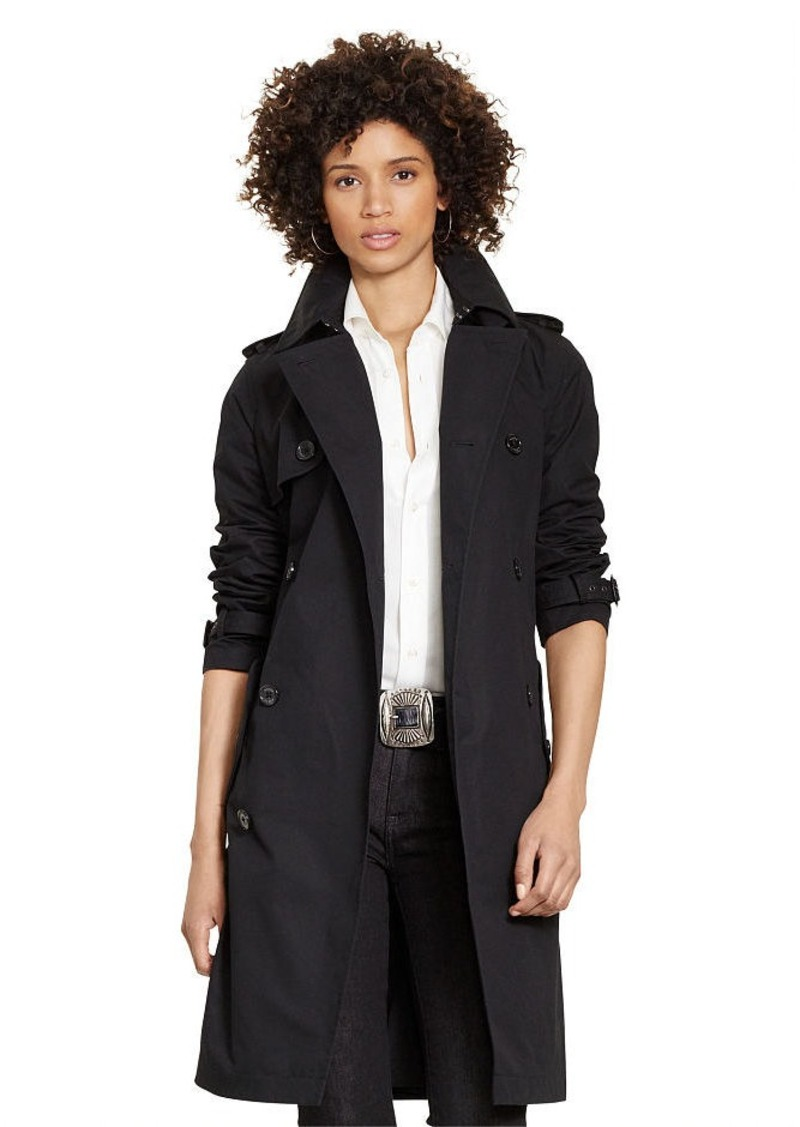 Ralph Lauren Slim-Fit Cotton Trench Coat