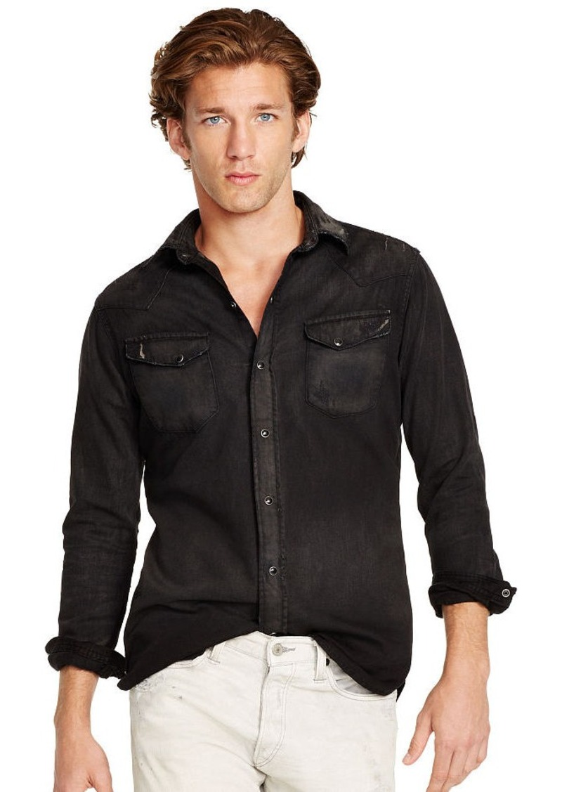 Ralph Lauren Slim-Fit Denim Western Shirt