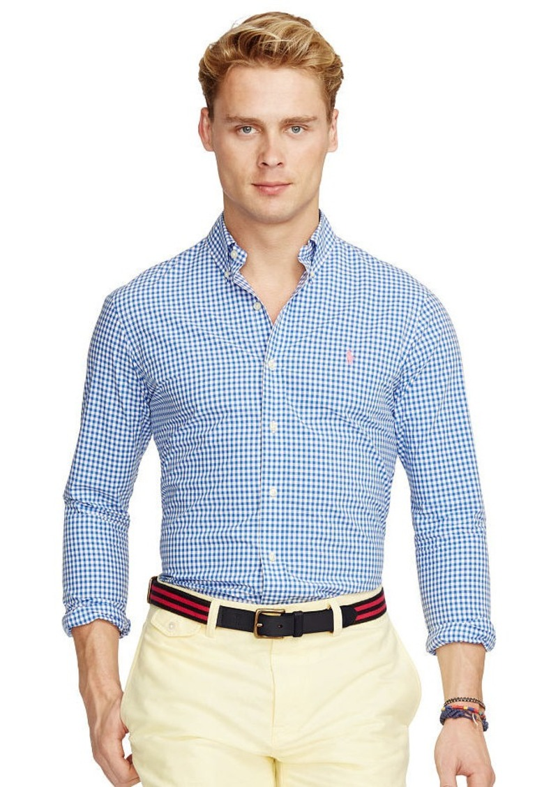 Ralph Lauren Slim-Fit Gingham Poplin Shirt