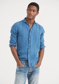 Ralph Lauren Slim Fit Indigo Linen Shirt