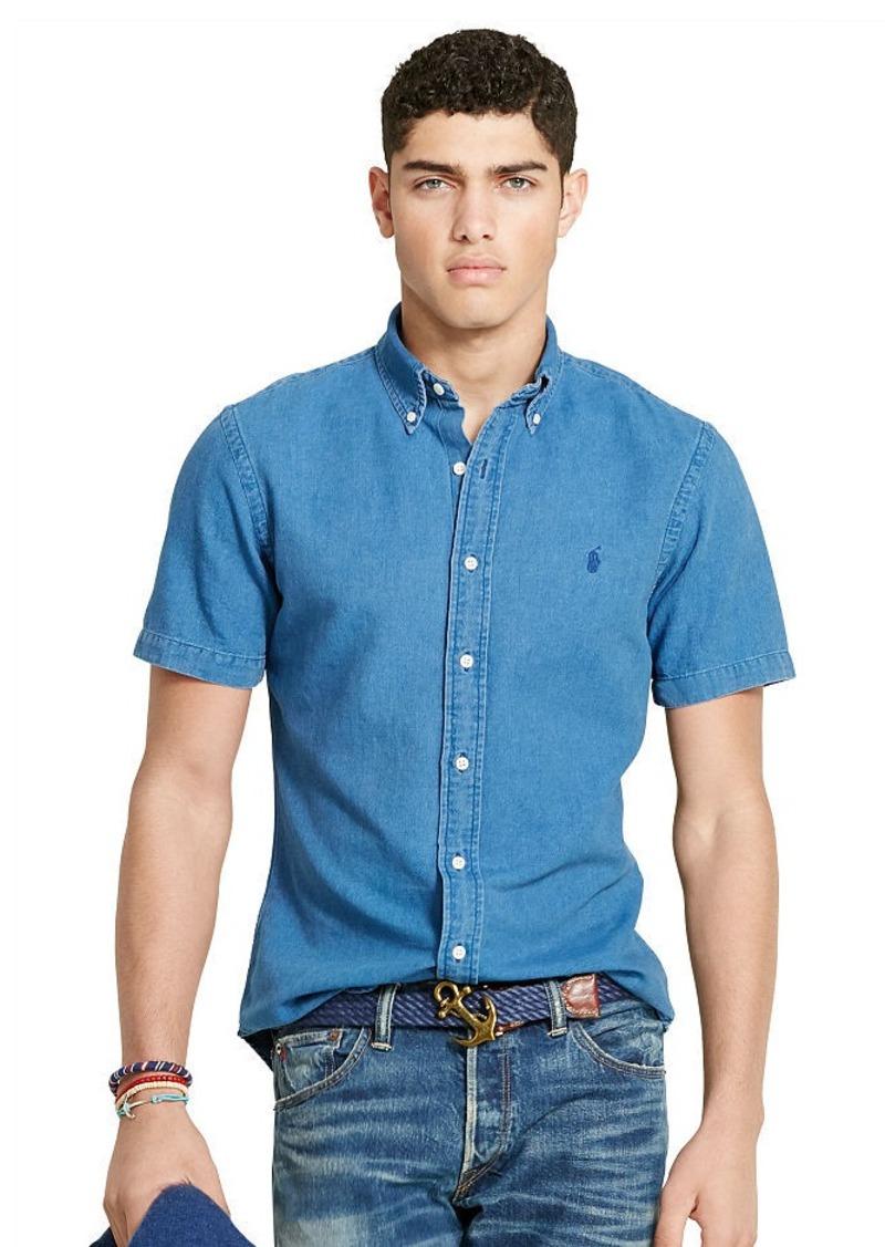 Ralph Lauren Slim-Fit Indigo Oxford Shirt