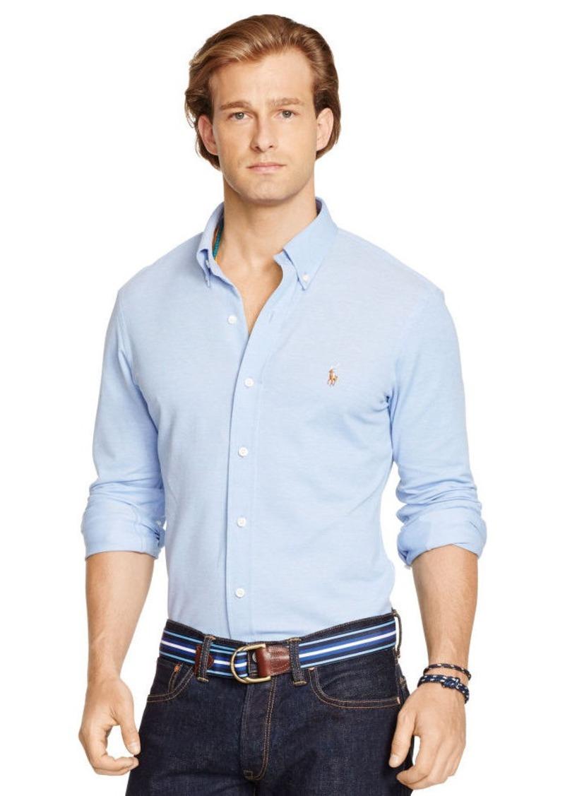 Ralph Lauren Slim-Fit Knit Oxford Shirt