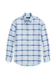 Ralph Lauren Slim Fit Plaid Oxford Shirt
