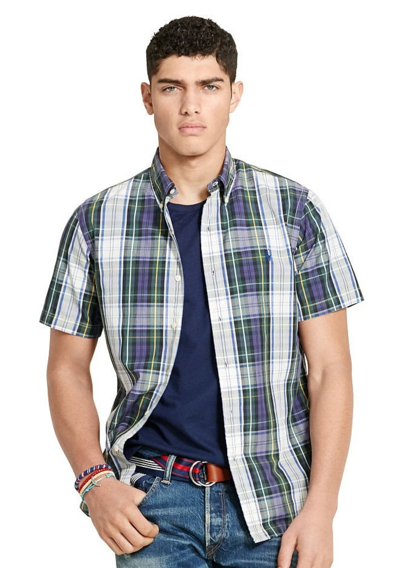 Ralph Lauren Slim-Fit Plaid Poplin Shirt