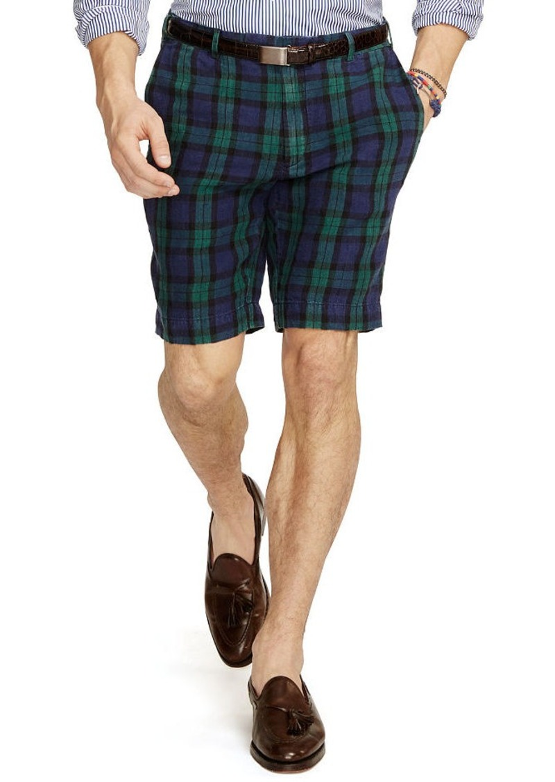 Ralph Lauren Slim-Fit Tartan Linen Short