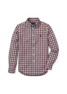 Ralph Lauren Slim Plaid Cotton Poplin Shirt