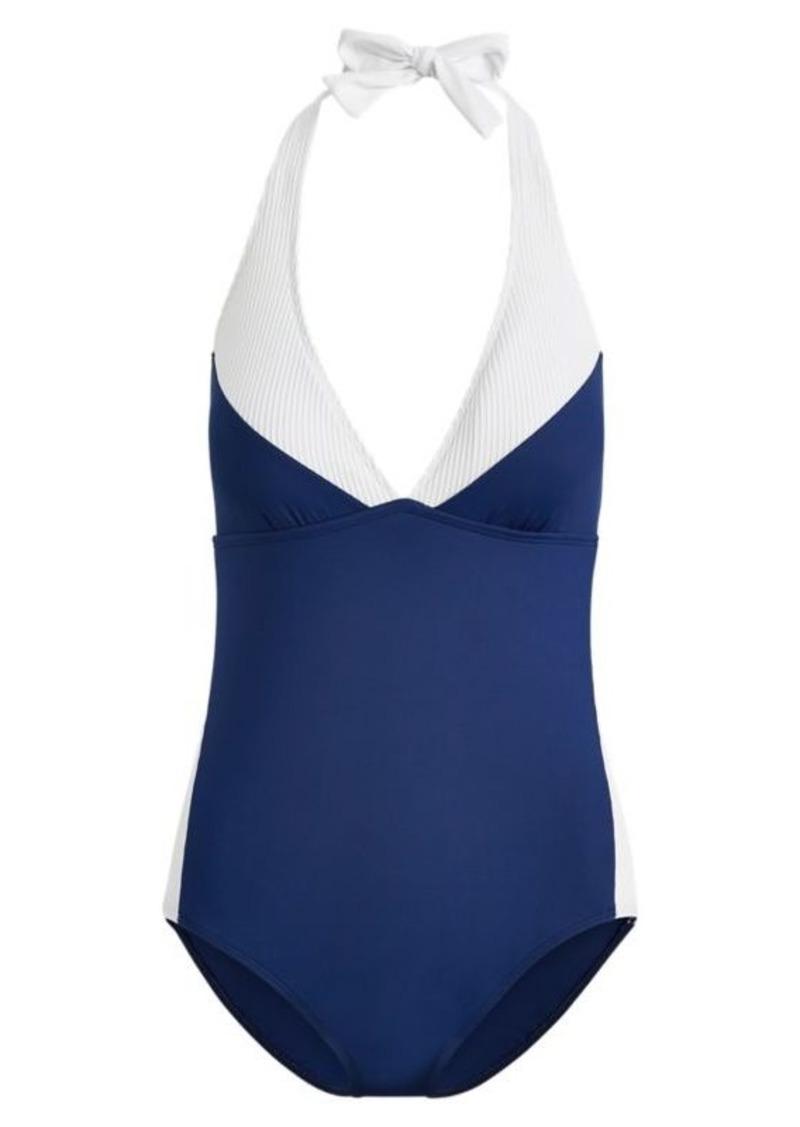 85eb6fb01e924 Ralph Lauren Slimming Halter One-Piece Suit | Swimwear