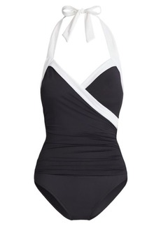 Ralph Lauren Slimming Halter Swimsuit