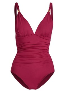 Ralph Lauren Slimming Ruched Swimsuit