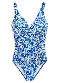 Ralph Lauren Slimming Twisted Swimsuit
