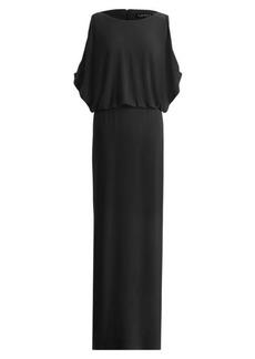 Ralph Lauren Slit-Sleeve Jersey Gown