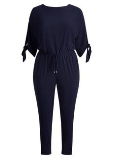 Ralph Lauren Slit-Sleeve Jersey Jumpsuit