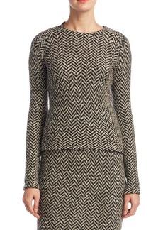 Ralph Lauren Slub Tweed Herringbone Sweater