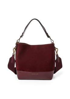 Ralph Lauren Small Suede Leather Hobo Bag