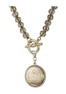 "Ralph Lauren Smokey Quartz 17"" Pendant Necklace"