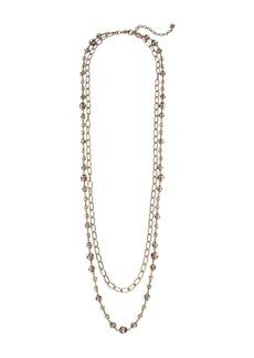 Ralph Lauren Smokey Quartz 2-in-1 Strand Necklace