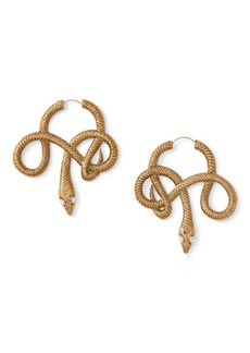 Ralph Lauren Snake Hoop Earrings
