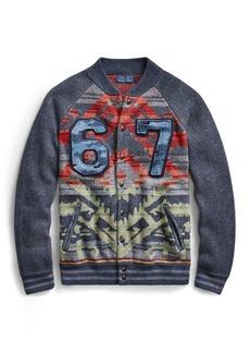 Ralph Lauren Snap-Front Baseball Sweater